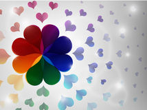 Colorful heart background. Stock Images