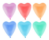 Colorful heart balloon isolated, with clipping path Stock Images