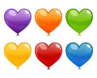 Colorful Heart Balloons Stock Photography