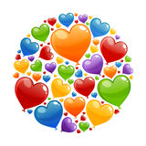 Colorful Heart Balloons Royalty Free Stock Image