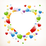 Colorful Heart Balloons Stock Photo