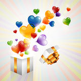 Colorful heart balloons Stock Photos