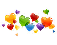 Colorful heart balloons Stock Images