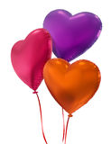 Colorful heart balloons isolated on white background Royalty Free Stock Images