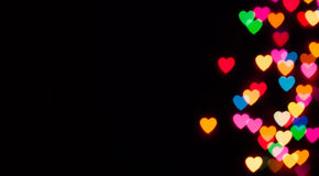 Colorful heart bokeh Royalty Free Stock Images