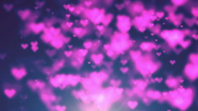 Colorful heart bokeh loop happy valentine background. Full HD stock video footage