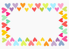 Colorful heart border Stock Photo