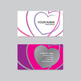 Colorful heart. Business card design.  illustration Royalty Free Stock Images