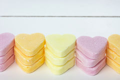 Colorful heart candies Stock Photography