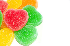 Colorful heart candy Stock Images