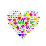 Colorful heart collage. Illustration of a colorful heart collage royalty free illustration