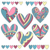 Colorful heart collection Royalty Free Stock Photo
