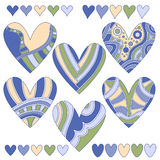 Colorful heart collection Stock Image