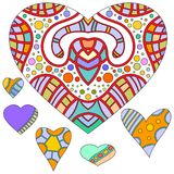 Colorful heart collection Stock Photo