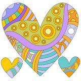Colorful heart collection Stock Photography