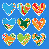 Colorful heart collection Royalty Free Stock Photos