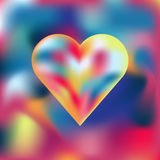 Colorful heart on colorful background. Vector mesh illustration Royalty Free Stock Images