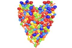 Colorful heart vector illustration