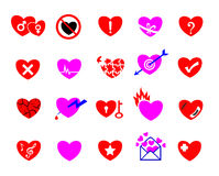 Colorful heart concept icon set Stock Image