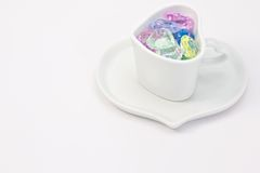 Colorful Heart in a cup Stock Images