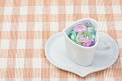 Colorful Heart in a cup Stock Photos