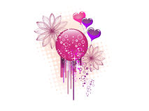 Colorful heart design Stock Image