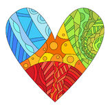 Colorful heart with different pattern Stock Image