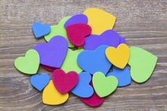 Colorful heart figure. Love symbol concept. Photo stock photos
