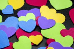 Colorful heart figure. Love symbol concept. Photo royalty free stock image