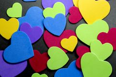 Colorful heart figure. Love symbol concept. Photo stock photography