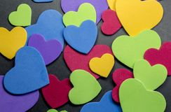 Colorful heart figure. Love symbol concept. Photo royalty free stock photo