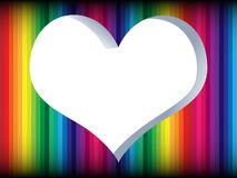 Colorful heart frame Royalty Free Stock Images