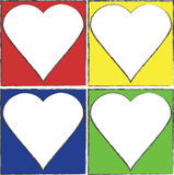 Colorful Heart Frames Royalty Free Stock Photography