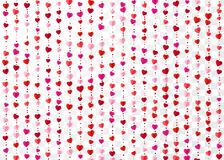 Colorful heart garlands. Valentines Day romantic background. Wrapping paper background. Vector illustration vector illustration