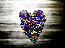 Colorful heart. (grunge style) royalty free stock photos