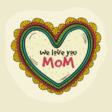 Colorful heart for Happy Mother's Day celebration. Royalty Free Stock Images