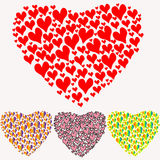 Colorful heart of hearts on a white background Royalty Free Stock Images