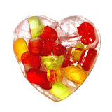Colorful heart made of ice Stock Image
