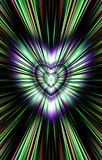 From the colorful heart in the middle diverge the stripes to the edges. Image for the Mothers Day, Valentines Day. Illustration & Clipart. Picture for Stock Photo