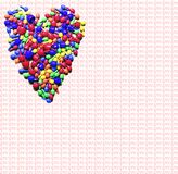 Colorful heart ove, valentin`s royalty free illustration