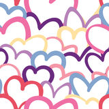 Colorful Heart Overlapping Pattern Royalty Free Stock Photography