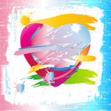 Colorful heart of painting brush Royalty Free Stock Image