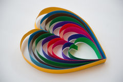 Colorful Heart Paper Isolate On White Background Stock Photo