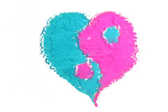 Colorful heart pastel sticks texture Royalty Free Stock Photo