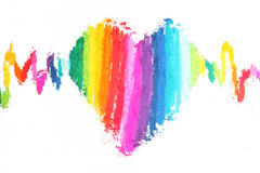 Colorful heart pastel sticks texture Stock Photography