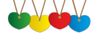 Colorful heart pattern Royalty Free Stock Photo