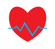 Colorful heart pulse, heartbeat icon vector isolated white background. Stock Photography