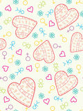 Colorful heart seamless. Stock Photography