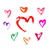 Colorful heart shape. On white background Royalty Free Stock Images