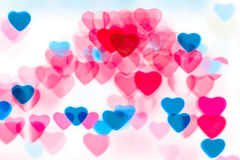 Colorful heart shape background Stock Image